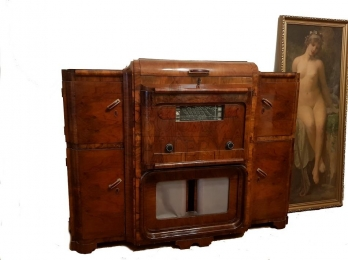 Art deco cocktail cabinet Music cabinet
