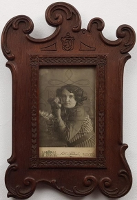 Carved beech wood photo frame