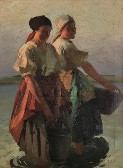 Lajos Jámbor (1884-1955): Women on the waterfront