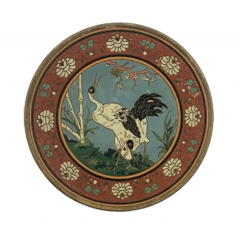 Johann Maresch (1821-1914): Wall decoration plate