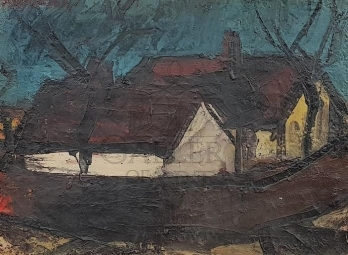 Gyula Konfár (1933-2008): Houses on the edge of the village